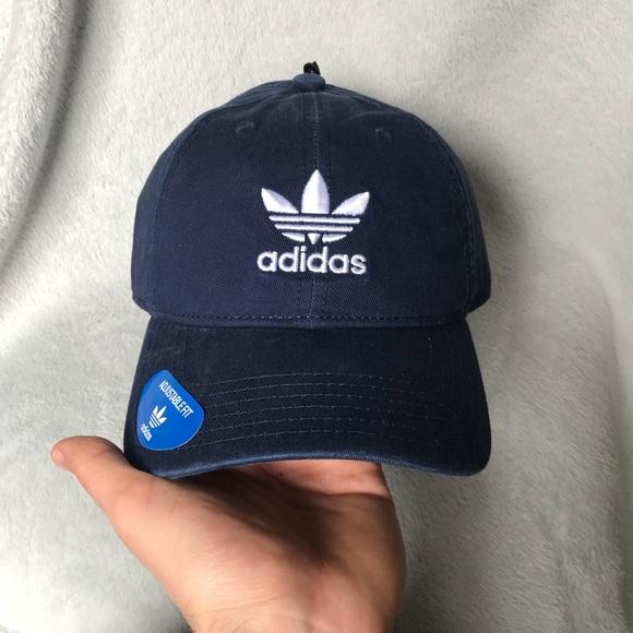 60a2d99a9a0 Blue adidas trefoil dad hat